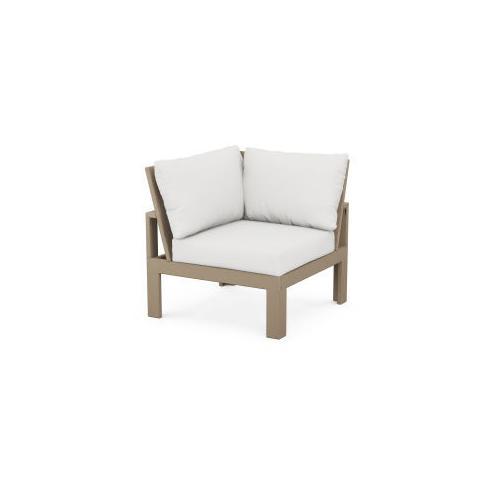 Modular Corner Chair in Vintage Sahara / Natural Linen