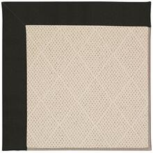 Creative Concepts-White Wicker Canvas Black Machine Tufted Rugs