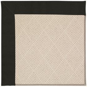 Creative Concepts-White Wicker Canvas Black Machine Tufted Rugs