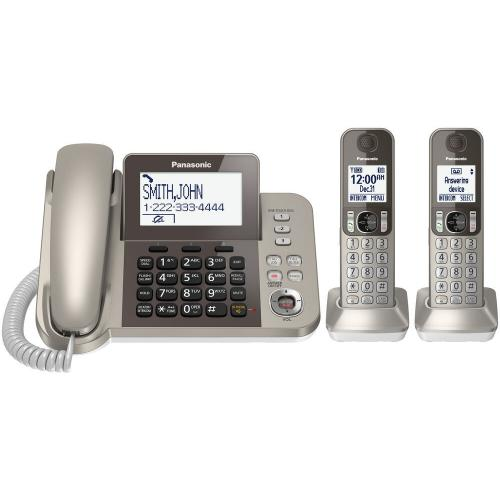 Corded/Cordless Phone and Answering Machine - 2 Cordless Handsets