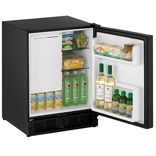 "U-Line - 21"" Refrigerator/ice Maker With Black Solid Finish (115 V/60 Hz Volts /60 Hz Hz)"