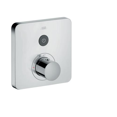 Polished Black Chrome Thermostat for concealed installation softcube for 1 function
