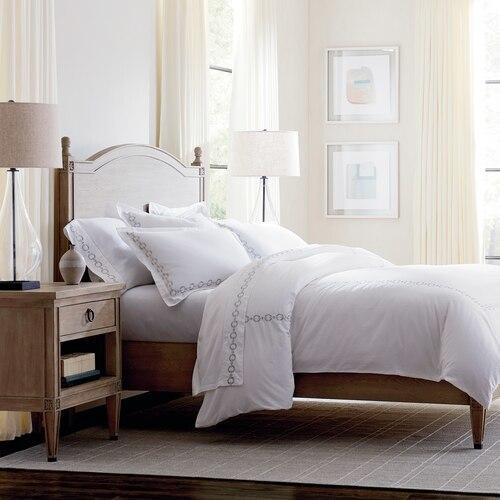 Charlotte Cal King Panel Bed, Footboard Low