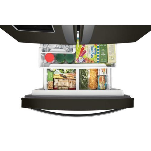 Whirlpool - 30-inch Wide French Door Refrigerator - 20 cu. ft. Fingerprint Resistant Black Stainless