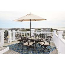 Burnella - Brown 7 Piece Patio Dining Set (Umbrella Sold Separate)