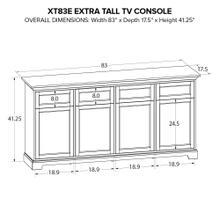 XT83E Extra Tall Custom TV Console