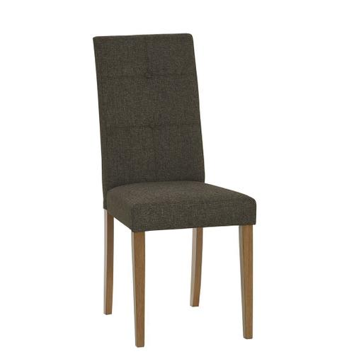 Upholstered Tufted Dining Chairs, Set of 2 - Walnut Finish