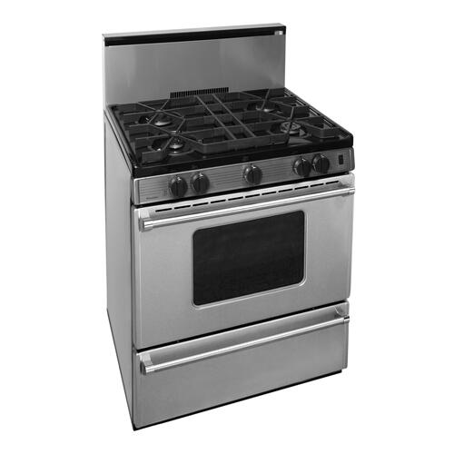 Product Image - 30 in. Freestanding Sealed Burner Gas Range in Stainless Steel