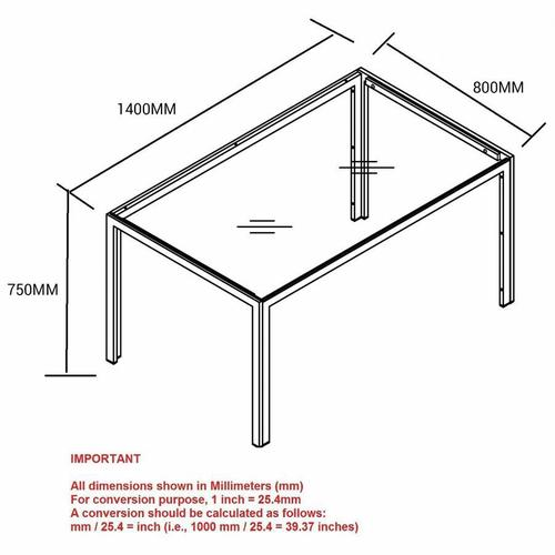 Worldwide Homefurnishings - Contra Rectangular Dining Table in Black
