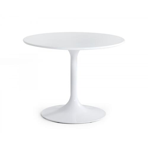VIG Furniture - Modrest Karen - Mid-Century White Round Dining Table
