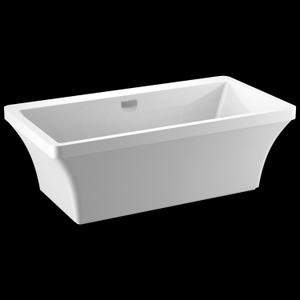 White 67'' x 36'' Freestanding Tub with Integrated Waste and Overflow Product Image