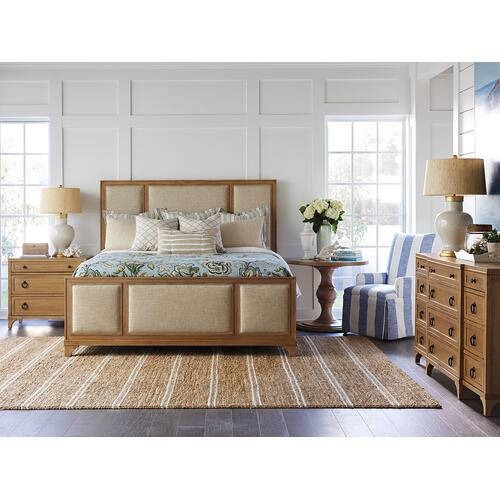Crystal Cove Upholstered Panel Bed Queen