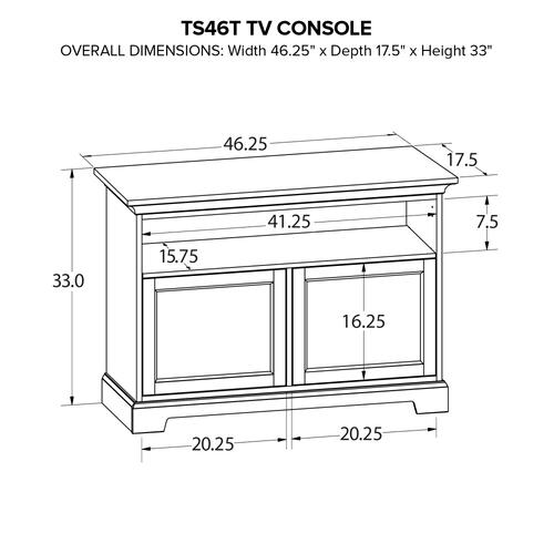 TS46T Custom TV Console