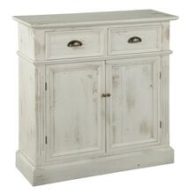 2-7787 Marketplace Rustic White Door & Drawer Cabinet