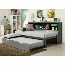 ACME Renell Twin Bed w/Bookcase & Trundle - 37225T - Black & Silver