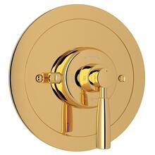 English Gold Perrin & Rowe Holborn Thermostatic Trim Plate Without Volume Control with Holborn Metal Lever