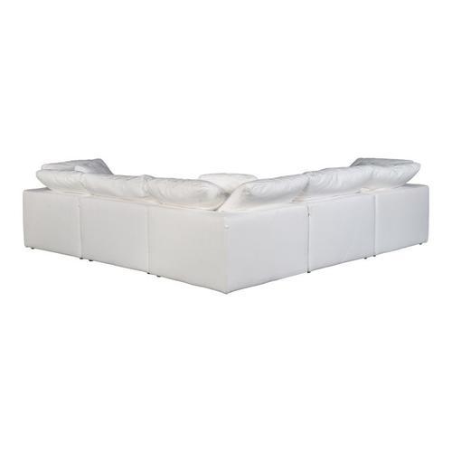 Moe's Home Collection - Terra Condo Classic L Modular Sectional Livesmart Fabric Cream