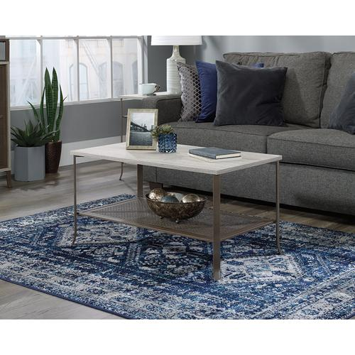 Wood & Metal Coffee Table with Open Shelf