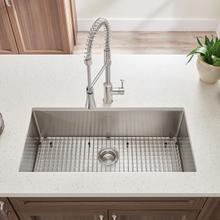 See Details - Pekoe 35x18-inch Stainless Steel Kitchen Sink  American Standard - Stainless Steel
