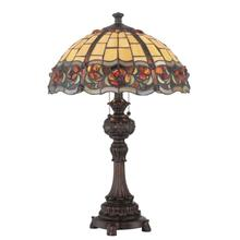 View Product - Table Lamp - Dark Bronze/tiffany Shade, E27 A 60wx2