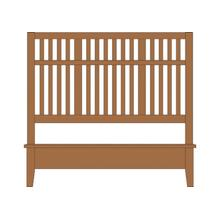 Queen Craftsman Slat Bed with Low Profile Footboard