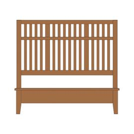 King Craftsman Slat Bed with Low Profile Footboard