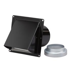 Broan-NuTone® Wall Cap, Steel, Black, for 3-Inch and 4-Inch round duct (no bird screen)