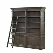ACME Aviston Bookcase - 92485 - Traditional - Wood (Oak), Ply, Metal (Iron) - Gray Oak
