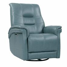 View Product - Power Leather Cordless Swivel Glider Recliner