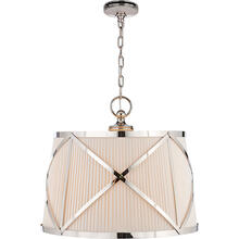 View Product - E. F. Chapman Grosvenor 3 Light 24 inch Polished Nickel Hanging Shade Ceiling Light