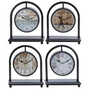 "METAL DESK CLOCK 4 ASST 11""H, 9""W Product Image"