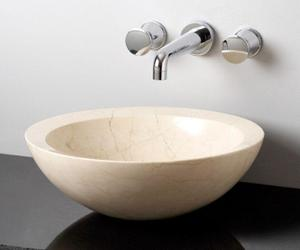 Polished Beveled Rim Sink Papiro Cream Marble Product Image