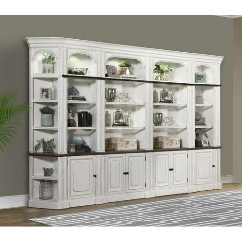 See Details - PROVENCE 6pc Open Bookcase Library Wall