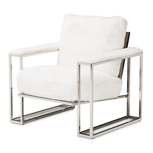 Astro Faux Fur Chair Stainlesssteel