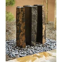 Outdoor Fountain: Triple Basalt Fountains (sets of 3) 39 Inch Height