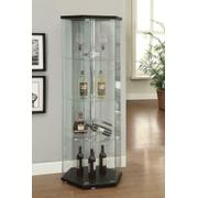 Traditional Glass Hexagon Curio Cabinet Product Image
