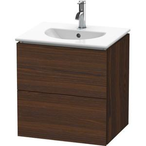 Vanity Unit Wall-mounted, Brushed Walnut (real Wood Veneer)
