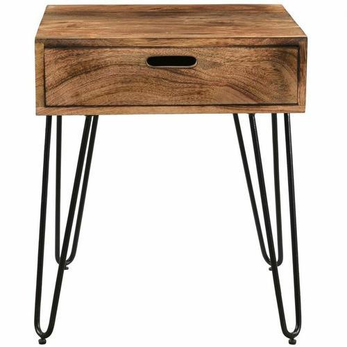 Worldwide Homefurnishings - Jaydo Accent Table in Natural Burnt