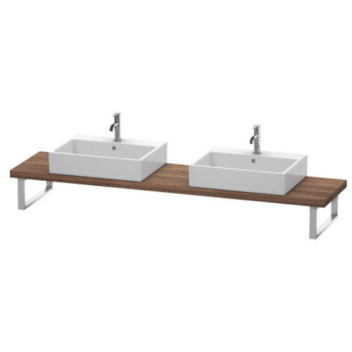 Product Image - Console For Above-counter Basin And Vanity Basin Compact, Walnut Dark (decor)