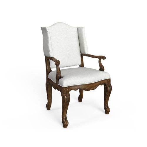 Thoroughbred Curlin Upholstered Arm Chair - Toast