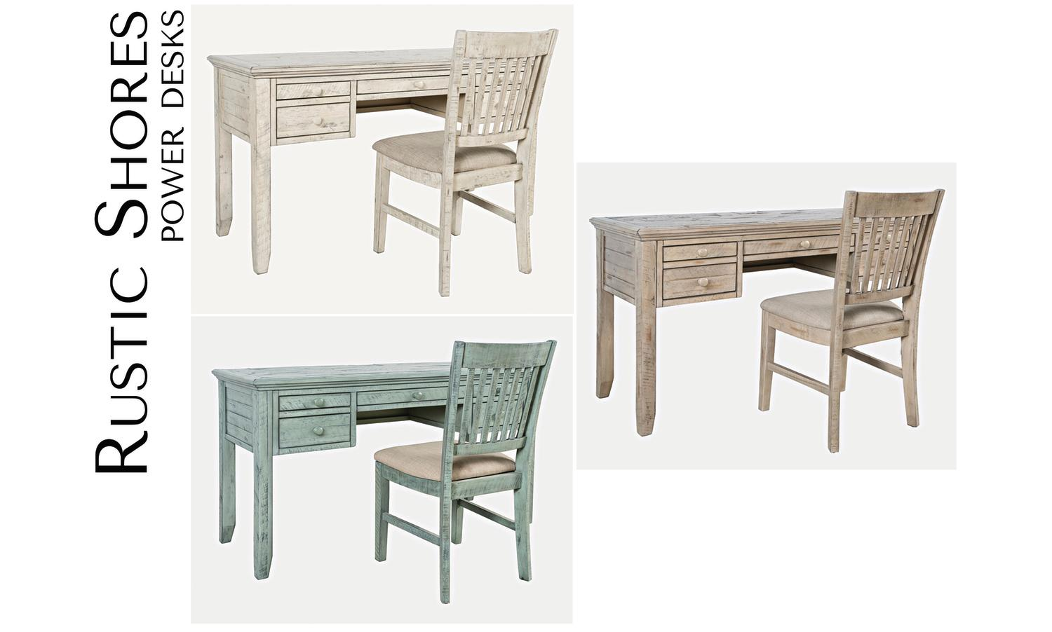 JofranRustic Shores Power Desk And Chair