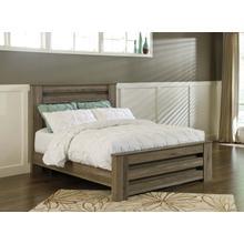 Zelen - Warm Gray complete queen bed.