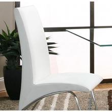 Mensa Wht Chr Seat & Back 4pk
