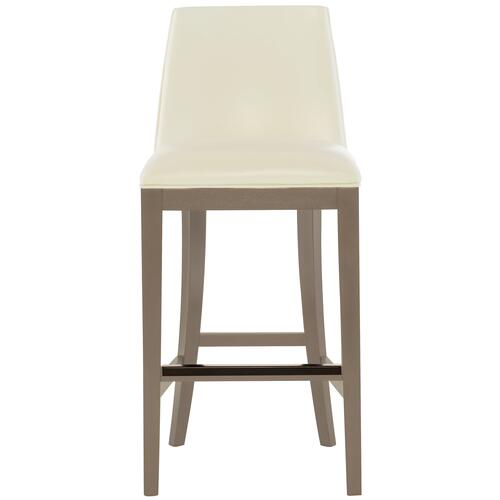 Bailey Leather Bar Stool in Smoke