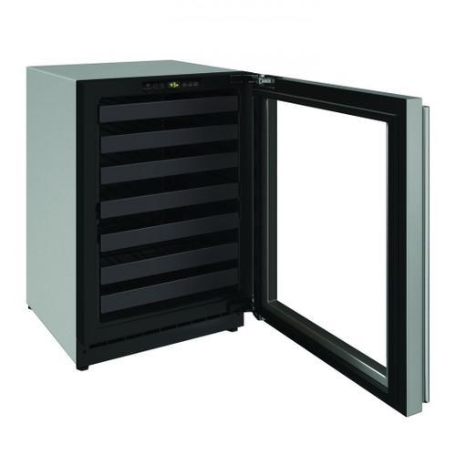 """2224wc 24"""" Wine Refrigerator With Stainless Frame Finish and Field Reversible Door Swing (115 V/60 Hz Volts /60 Hz Hz)"""