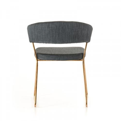 VIG Furniture - Ashland - Modern Grey & Rosegold Dining Chair (Set of 2)