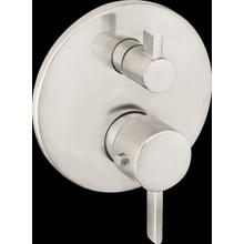 Brushed Nickel Thermostatic Trim S with Volume Control