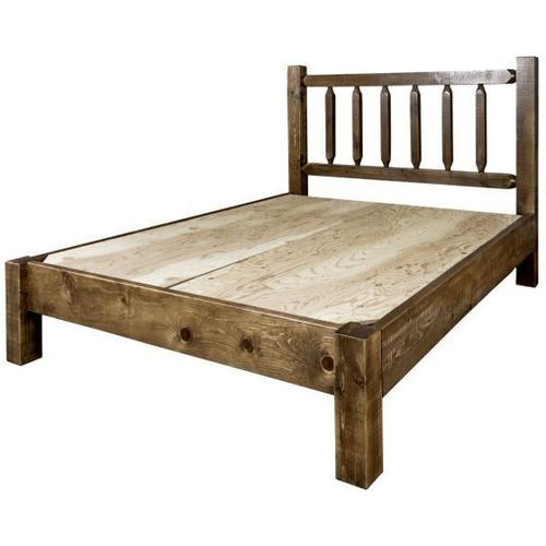 Homestead Collection Platform Beds, Stain and Lacquer Finish