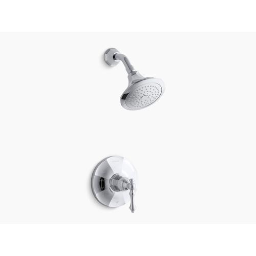 Kohler - Vibrant Brushed Nickel Rite-temp Shower Valve Trim With Lever Handle and 2.5 Gpm Showerhead