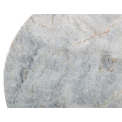 Gallery - Modrest Gabbro - Glam White Marble and Gold End Table